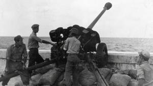 EEn anti-tankwapen in Havana tijdens de Cubacrisis van 1961